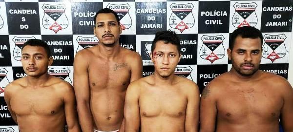 """A Polícia Civil do Estado de Rondônia, por meio da Delegacia de Candeias do Jamari, realizou na noite desta sexta-feira (15/06), a prisão de quatro indivíduos integrantes de uma """"associação..."""