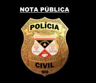 A Delegacia Geral da Polícia Civil do Estado de Rondônia vem a público agradecer o posicionamento do deputado federal Léo Moraes, em defesa das polícias civis dos estados, durante as...